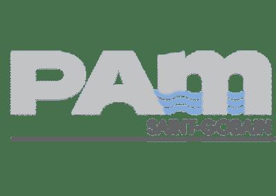 PAM SAINT GOBAIN Leader des solutions complètes de canalisations en fonte ductile pour les réseaux d'eau et d'assainissement. Produit et commercialise   tuyaux, raccords, pièces de robinetterie et fonte de voirie.