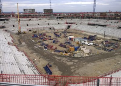 Chantier Assainissement Caniveaux – Groupama Stadium de Lyon- Agence de Chassieu